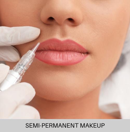Semi permanent makeup lips